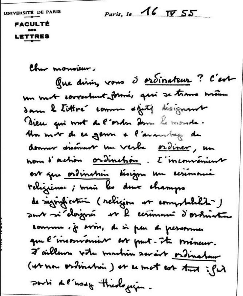 lettre de motivation manuscrite ou dactylographi u00e9e