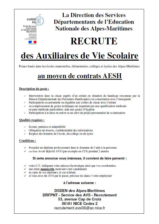 Lettre de motivation aesh gratuite - laboite-cv.fr