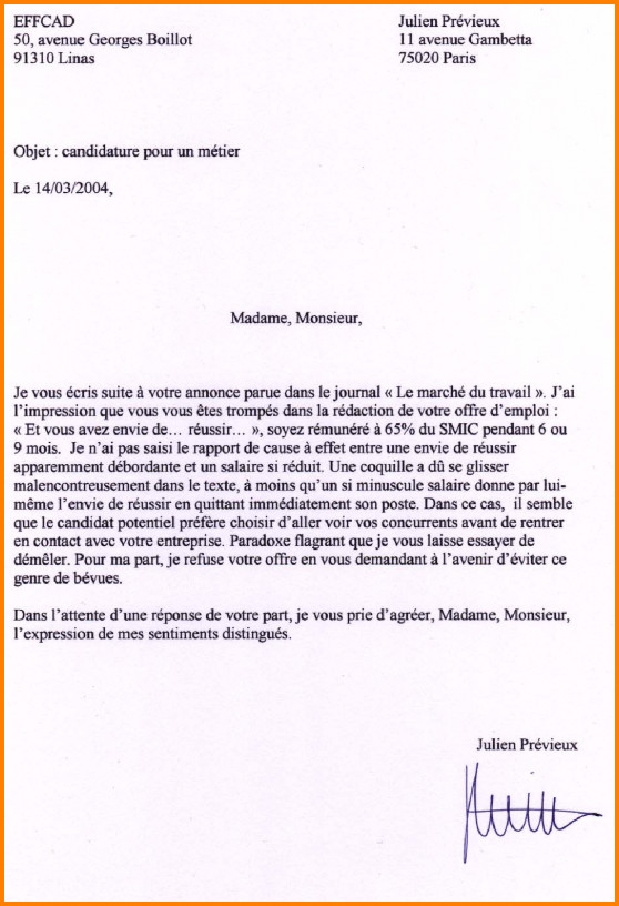 carrefour lettre de motivation
