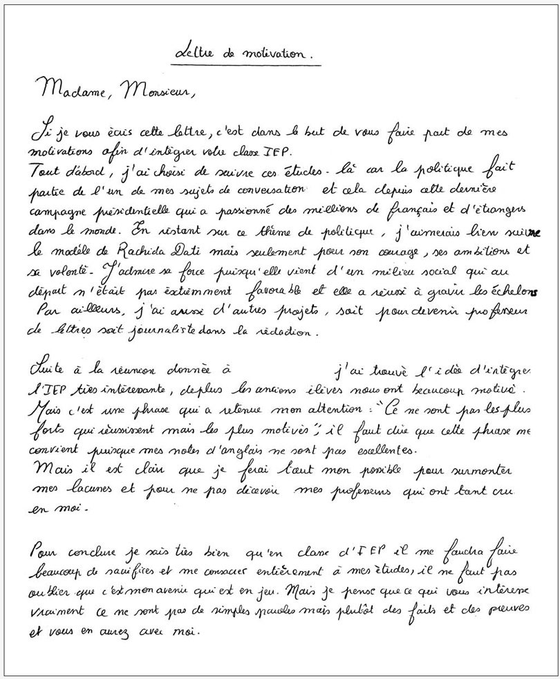 lettre de motivation inscription ecole priv u00e9e