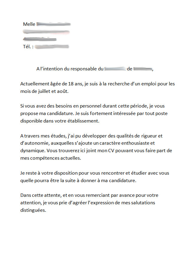 lettre de motivation job d u0026 39  u00e9t u00e9 17 ans mairie