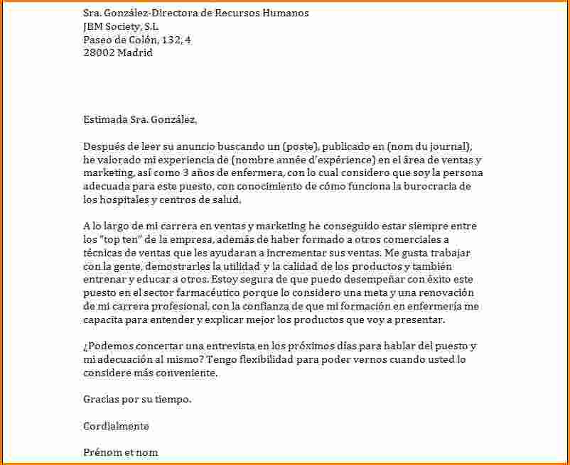 lettre de motivation pour poste interne