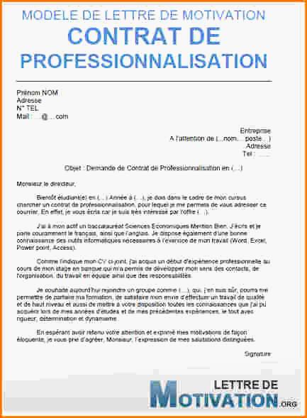 lettre de motivation contrat alternance