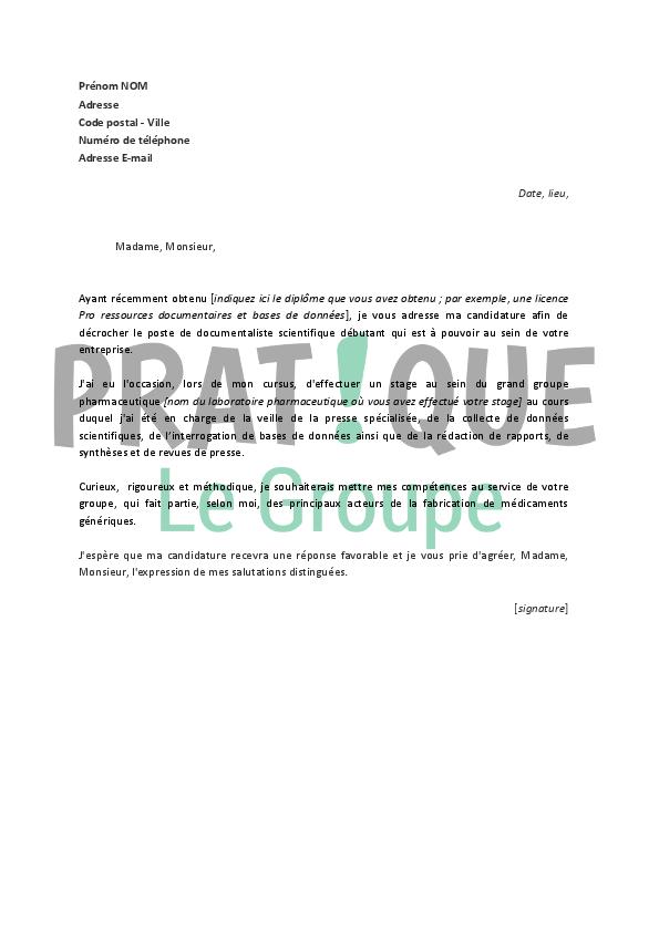 lettre de motivation g u00e9n u00e9rique