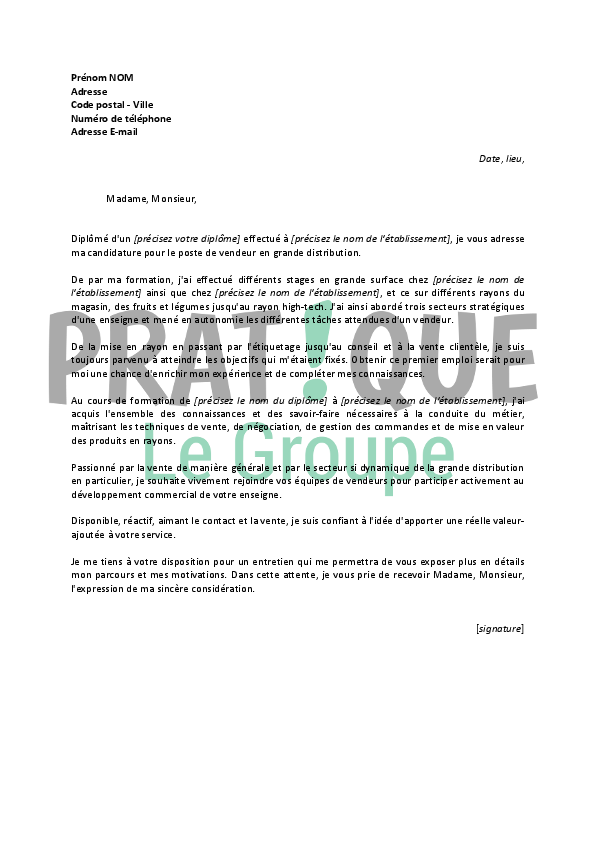 lettre de motivation secteur automobile