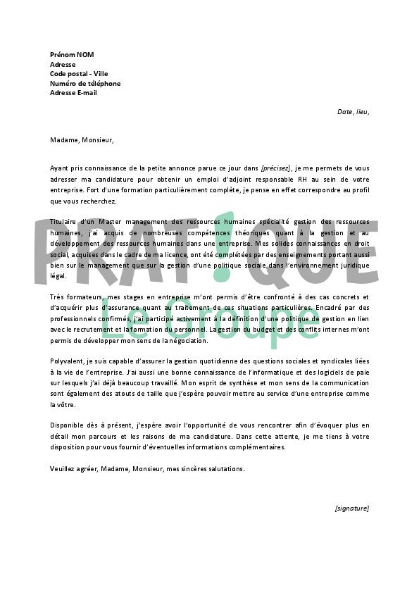 lettre de motivation gestionnaire assurance d u00e9butant