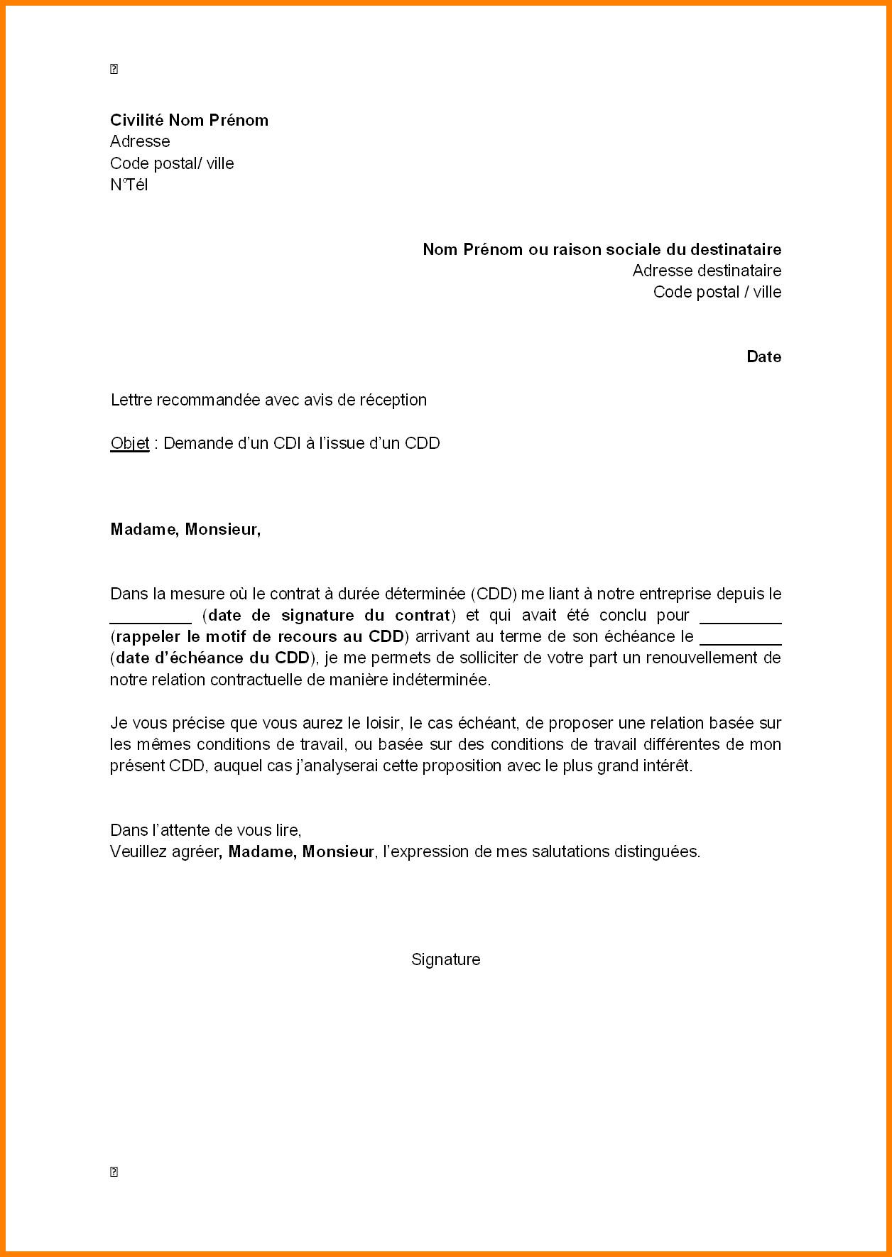 lettre de motivation renouvellement de contrat saisonnier
