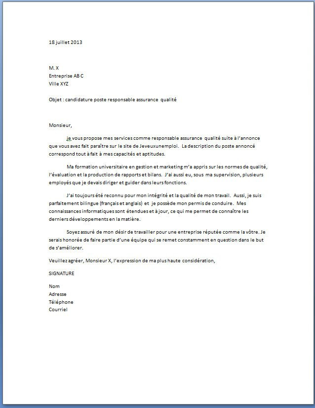 Lettre De Motivation Responsable D Agence Laboite Cv Fr