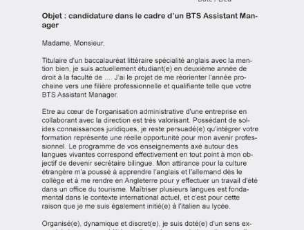 Lettre De Motivation Manager De Rayon Laboite Cv Fr