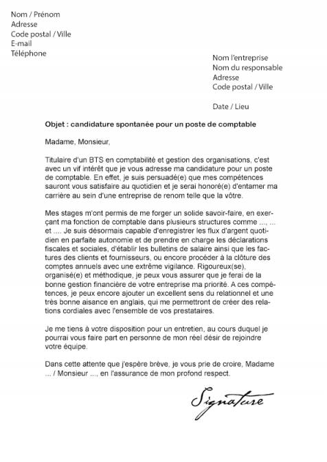 lettre de motivation secr u00e9taire comptable