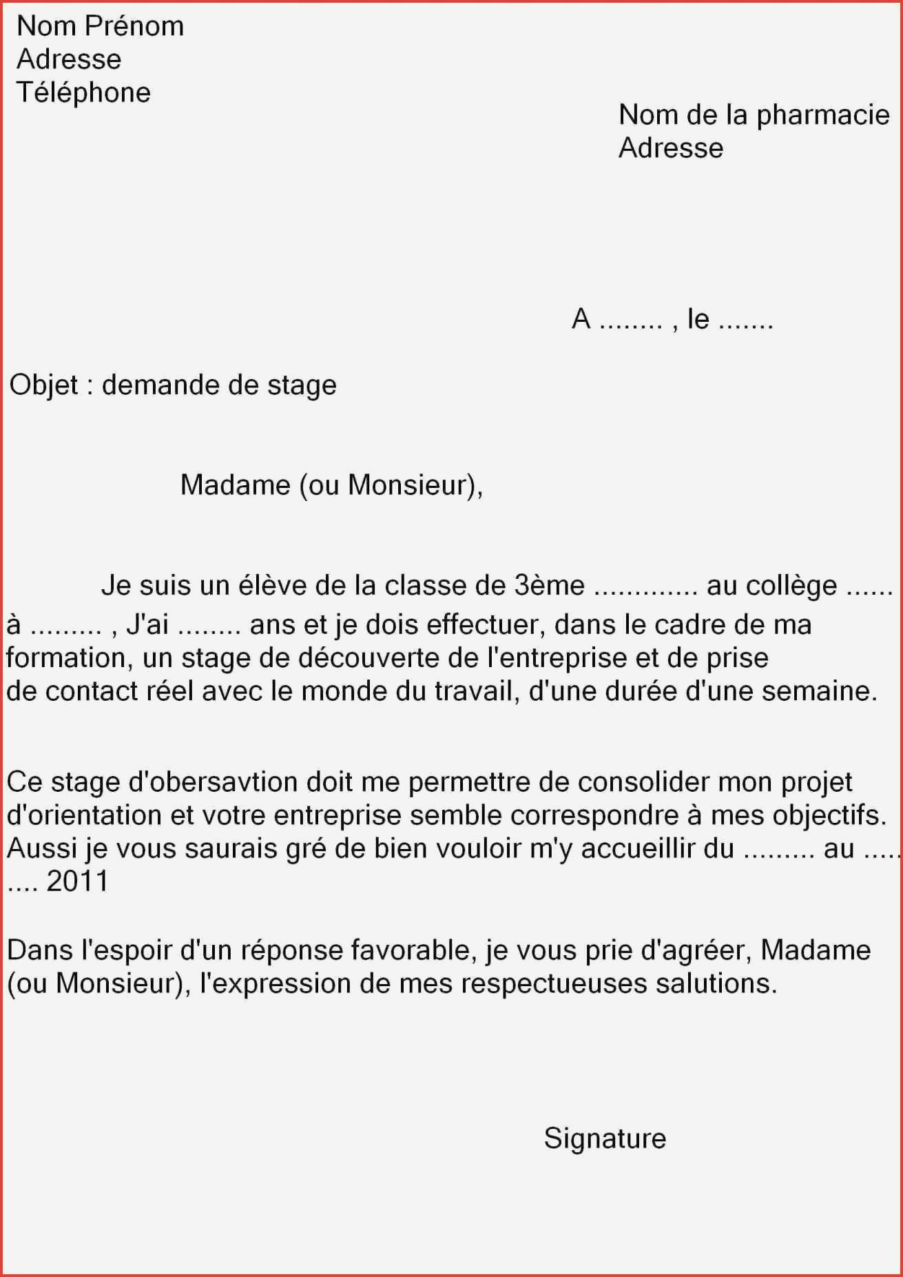 lettre de motivation stage hotel