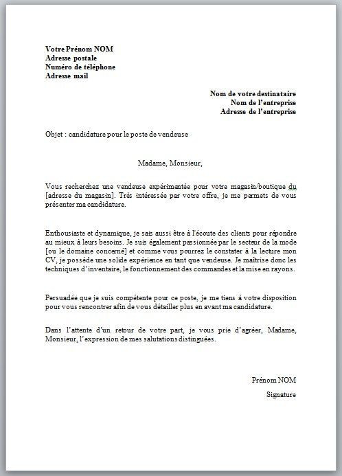 lettre de motivation pour la suisse
