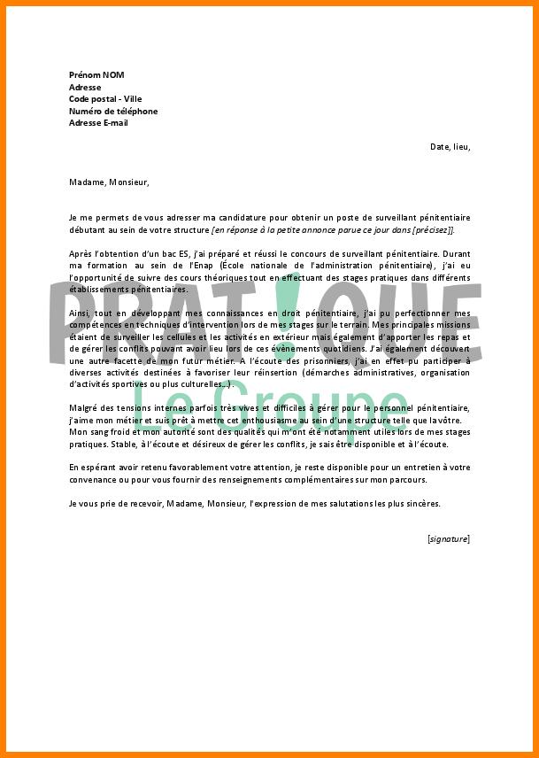 lettre de motivation surveillant lyc u00e9e