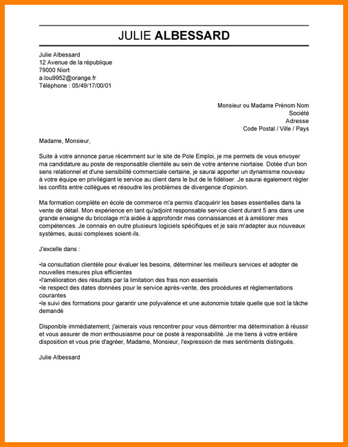 lettre de motivation surveillant d u0026 39 internat sans