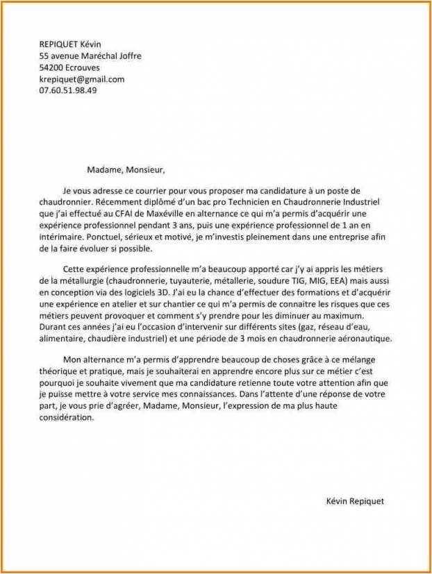 lettre de motivation technicien telecom