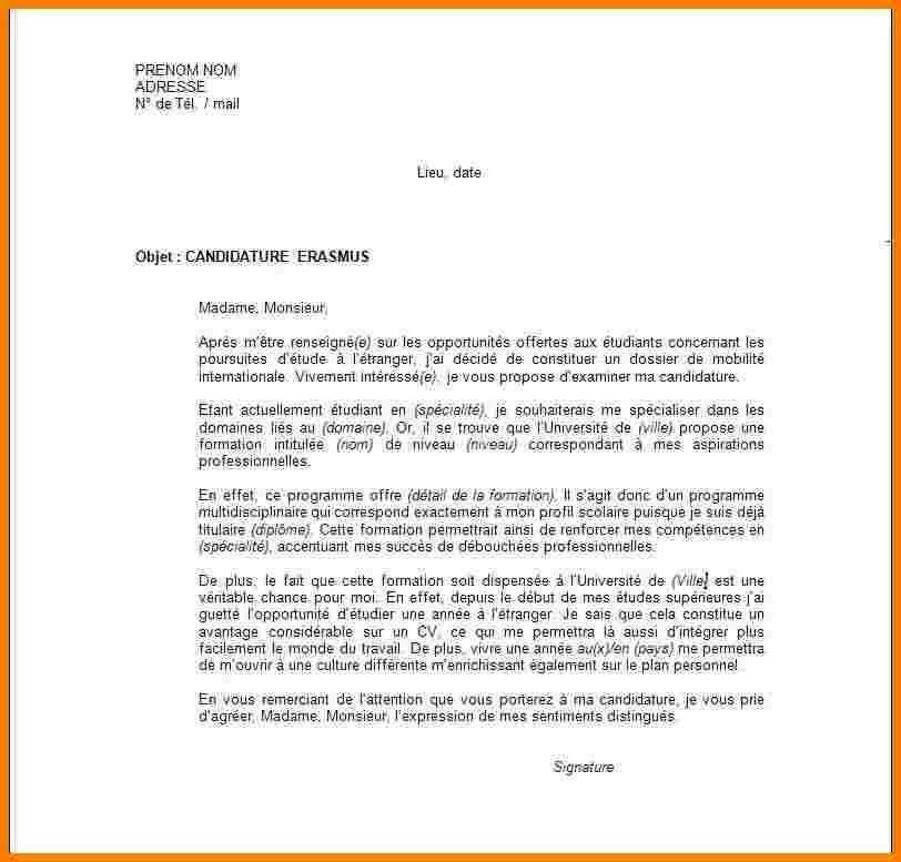 lettre de motivation traduction