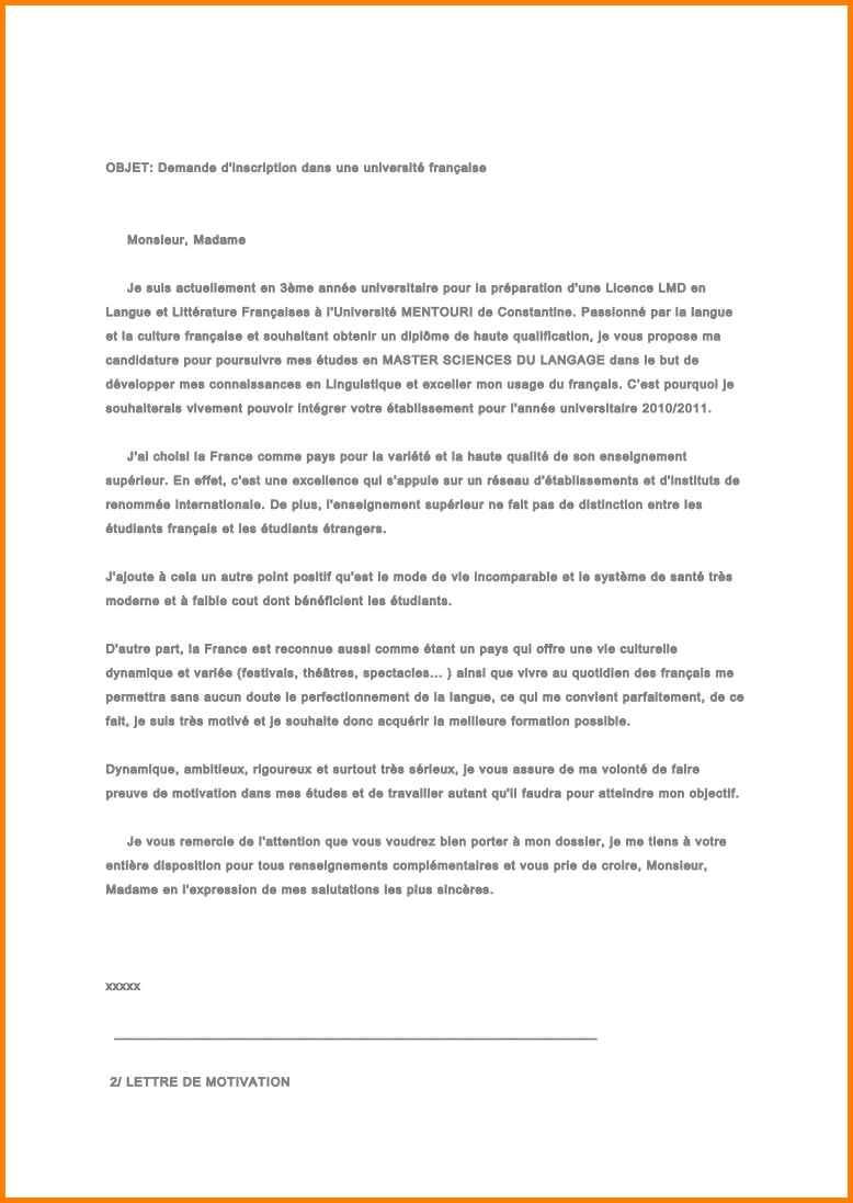 lettre de motivation pour travailler