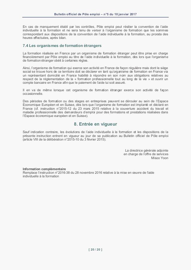 lettre de motivation financement pole emploi