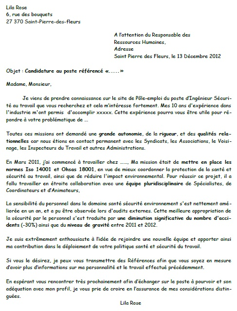 Qualites Lettre De Motivation Stage Laboite Cv Fr