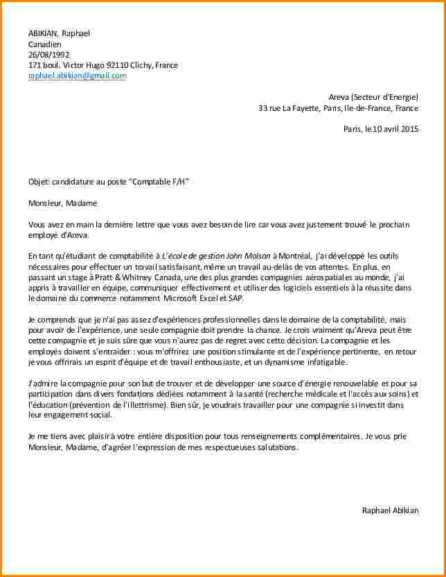 lettre de motivation exemple candidature spontan u00e9e