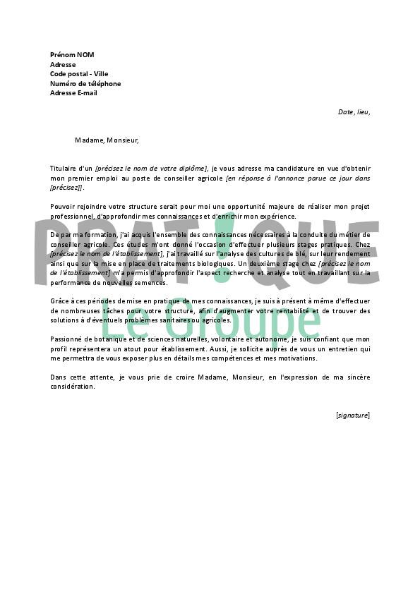 lettre de motivation ouvrier agricole d u00e9butant
