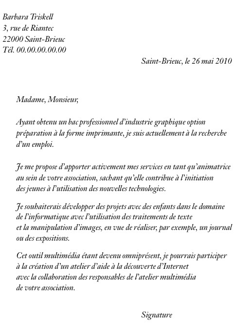 lettre de motivation emploi  u00e9tudiant temps partiel