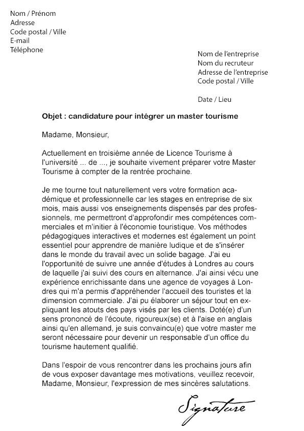 lettre de motivation universit u00e9 licence