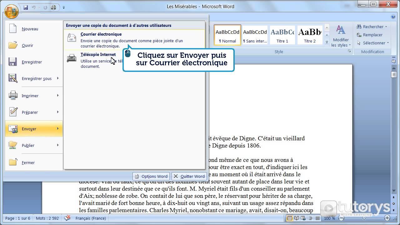exemple d u0026 39 envoie de cv par mail