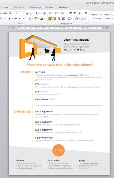 logiciel gratuit de curriculum vitae