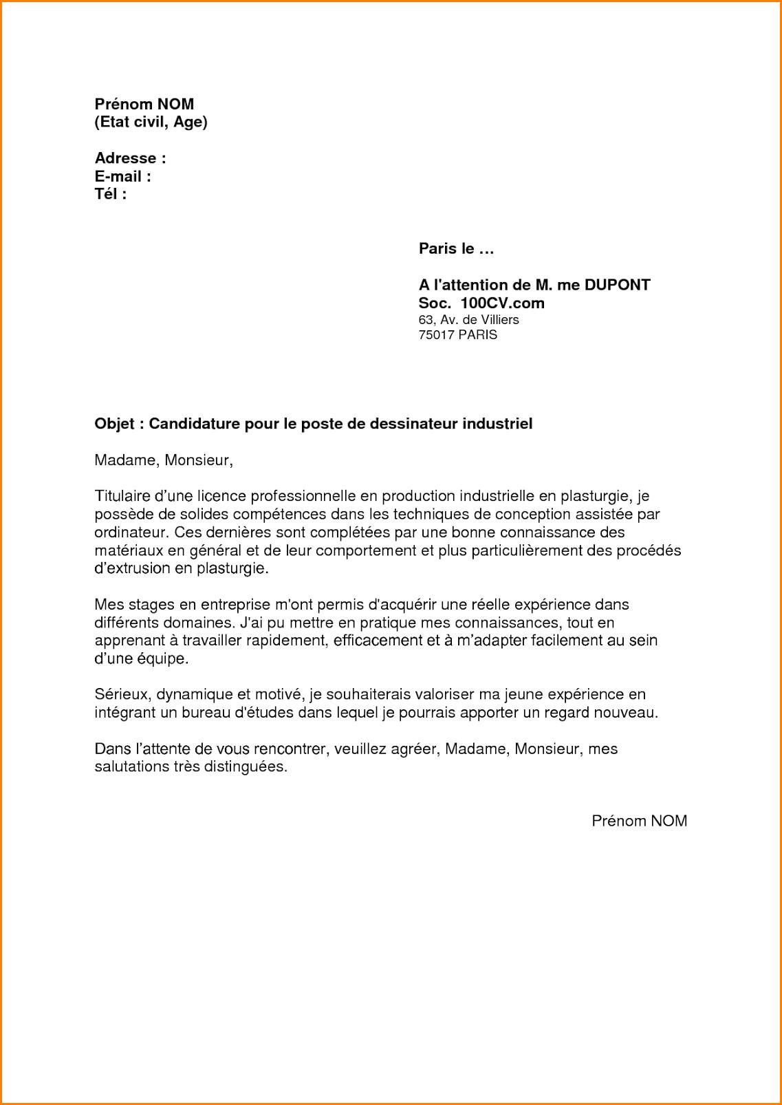 lettre de motivation chaudronnier d u00e9butant