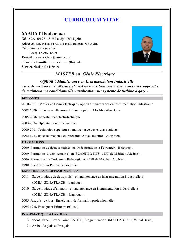 Exemple De Cv Europass Algerien Laboite Cv Fr