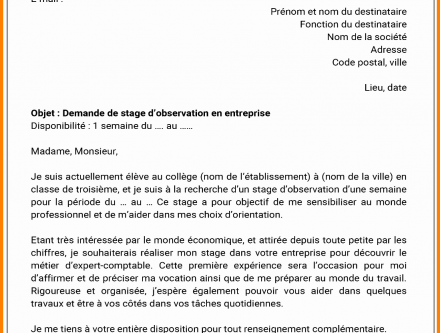 Lettre De Motivation Pour Un Stage De Decouverte Laboite Cv Fr