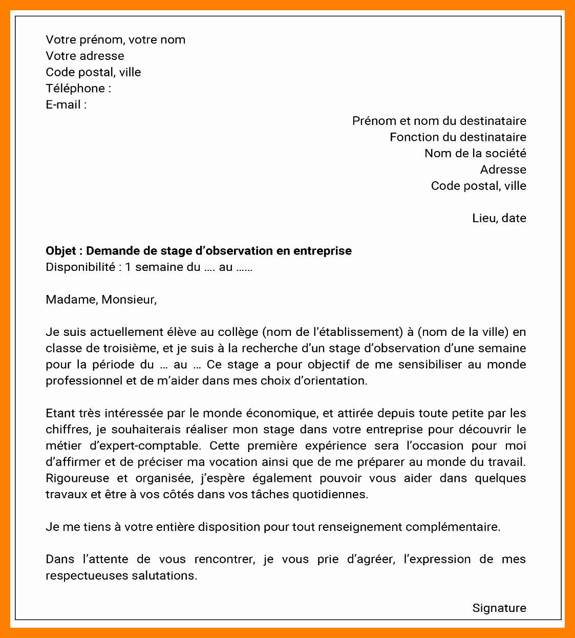 Lettre de motivation stage d observation - laboite-cv.fr