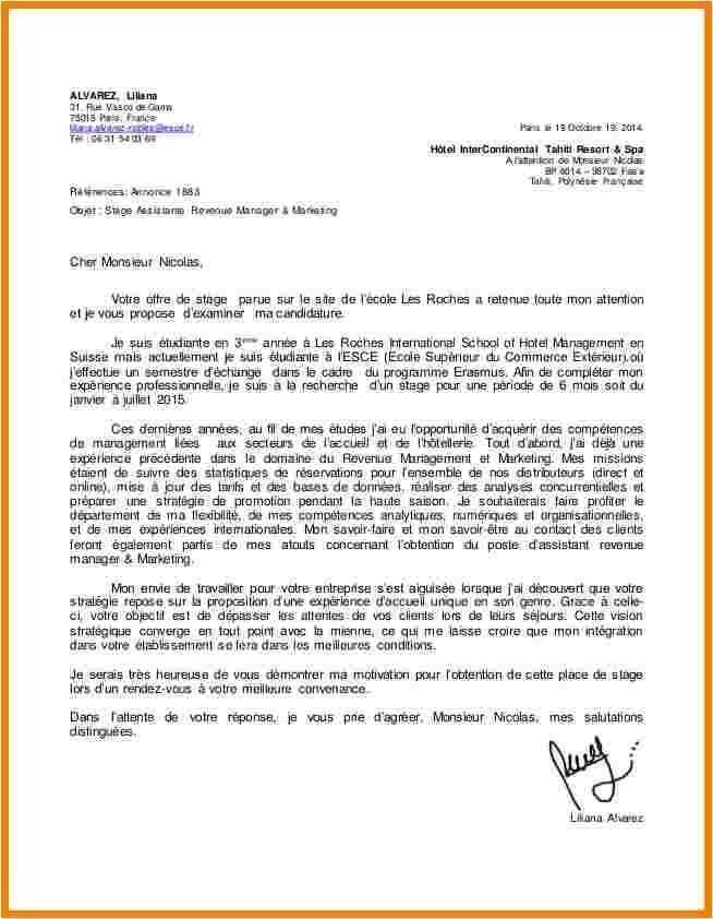 lettre de motivation pour ecole de commerce