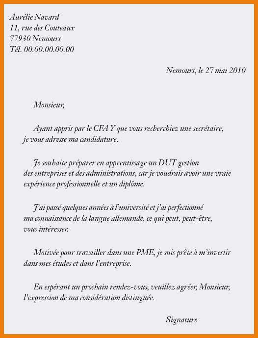 lettre de motivation stage immobilier