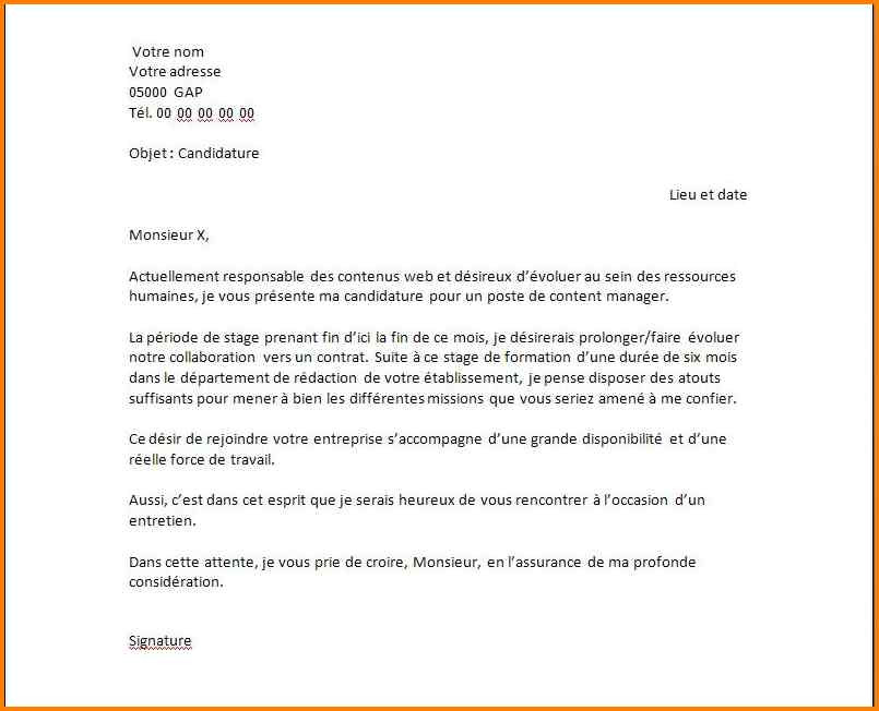 lettre de motivation stage 3eme informatique