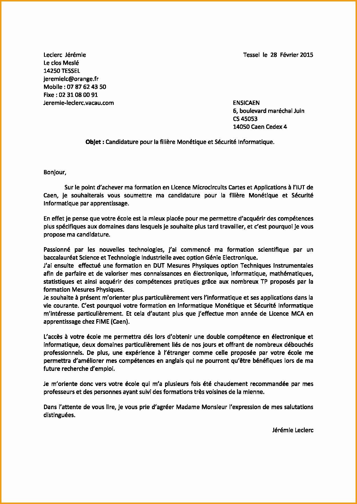 lettre de motivation mediapost