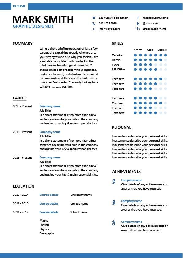curriculum vitae designer