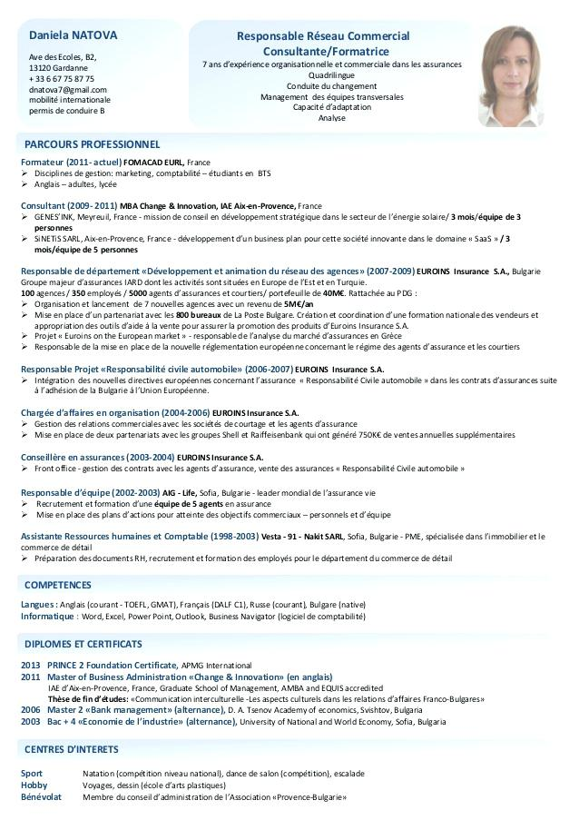 exemple de cv repr u00e9sentant de commerce