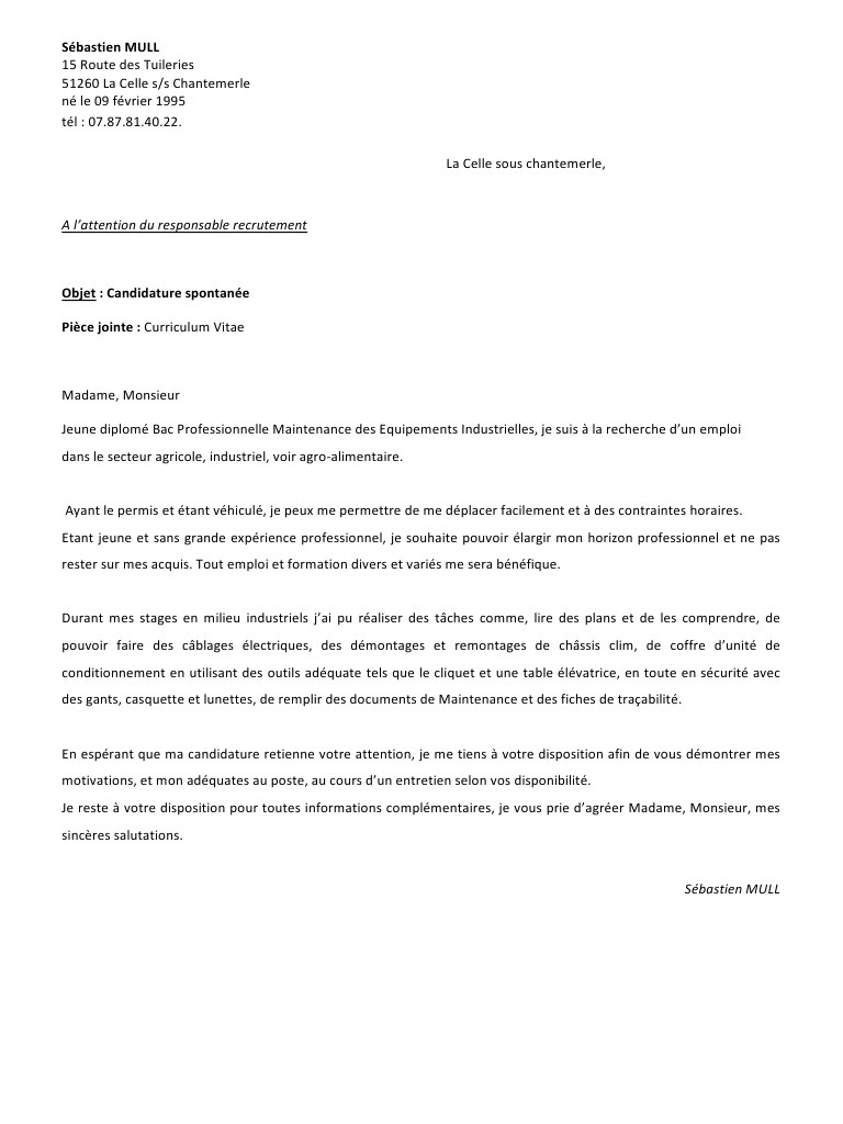lettre de motivation diplome