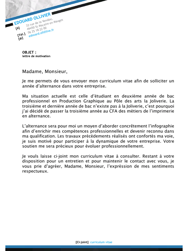 Lettre De Motivation Infographiste Laboite Cv Fr