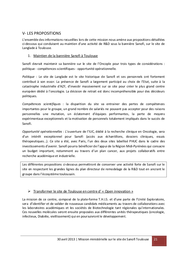 lettre de motivation sanofi