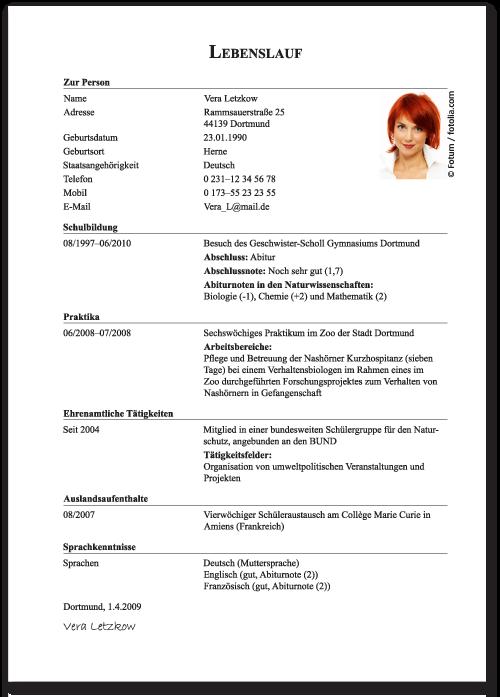 Curriculum Vitae Vorlage Deutsch Laboite Cv Fr