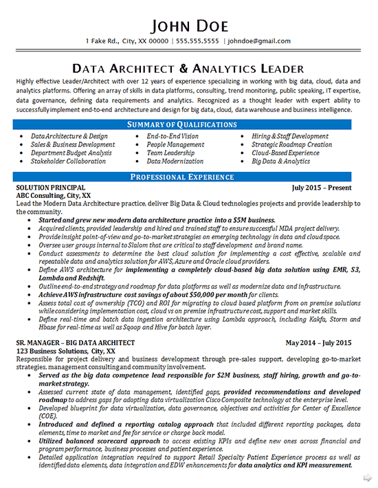 exemple de cv data analyst