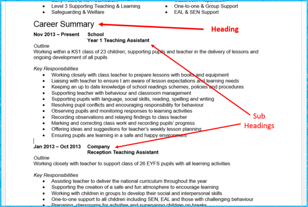 curriculum vitae header