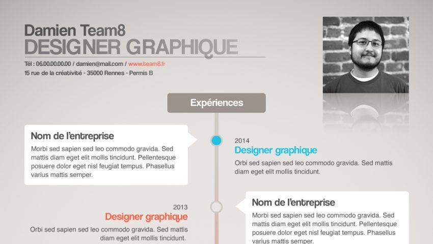 curriculum vitae designer graphique