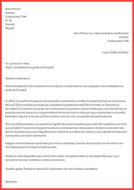 lettre de motivation demande d u0026 39 embauche