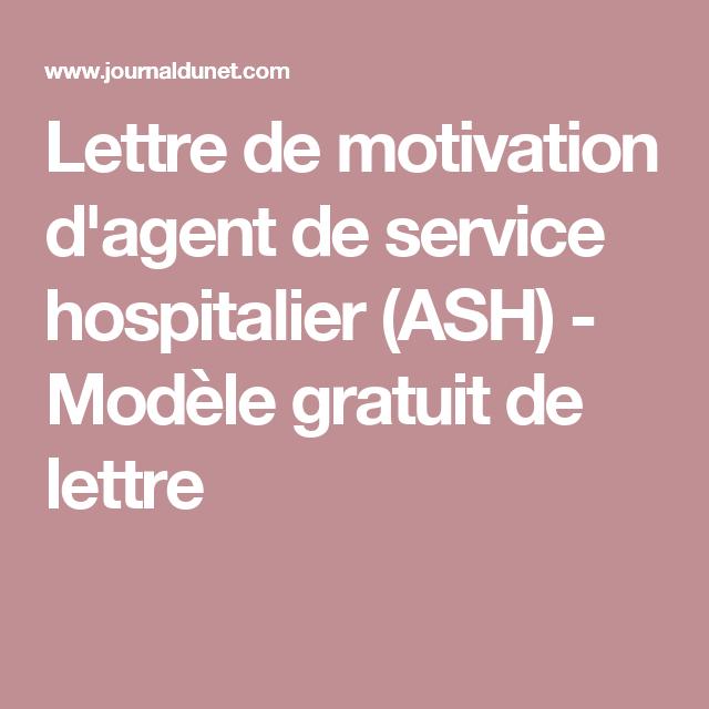 Exemple lettre de motivation agent des services hospitaliers