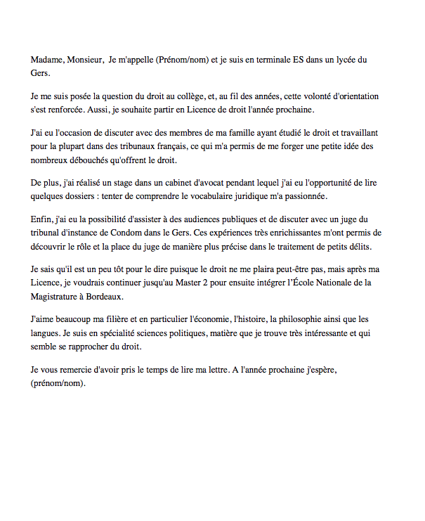 lettre de motivation integrer formation