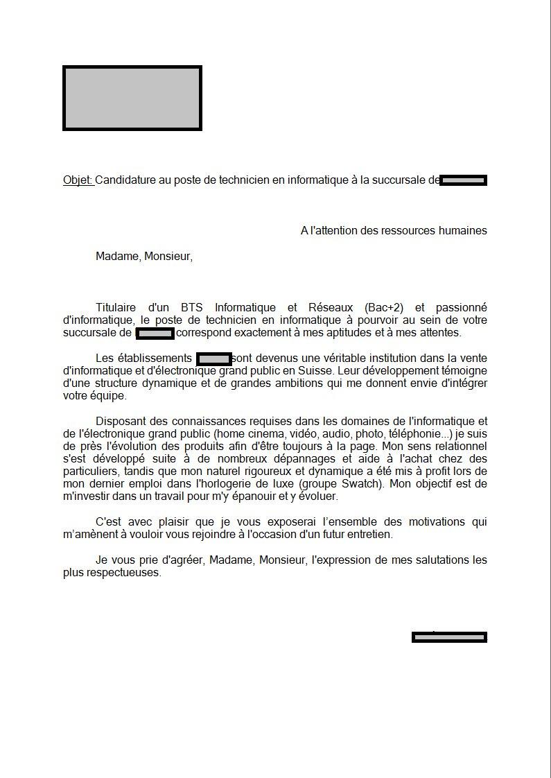 Exemple lettre de motivation job d'été 17 ans - laboite-cv.fr